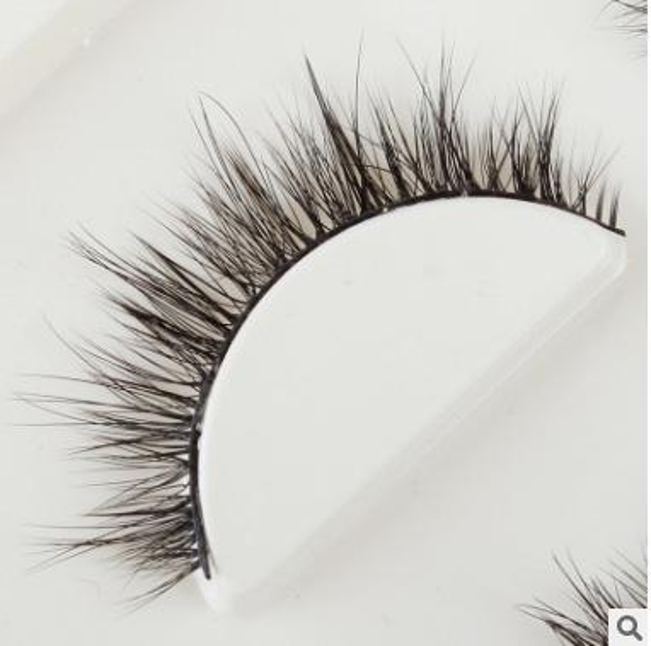 3D Daily Using Fake Eyelashes Natural Curl thick eyelash extension 107# pure handmade cotton stem black false eyelash lash layers Profession