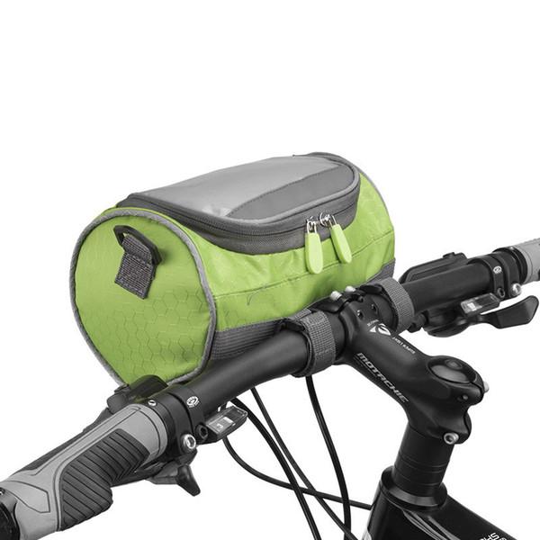db7720299 PROMEND Waterproof Touch Screen Cycling Phone Bag Large Capacity Bike Front  Basket Durable Tube Handlebar Bag