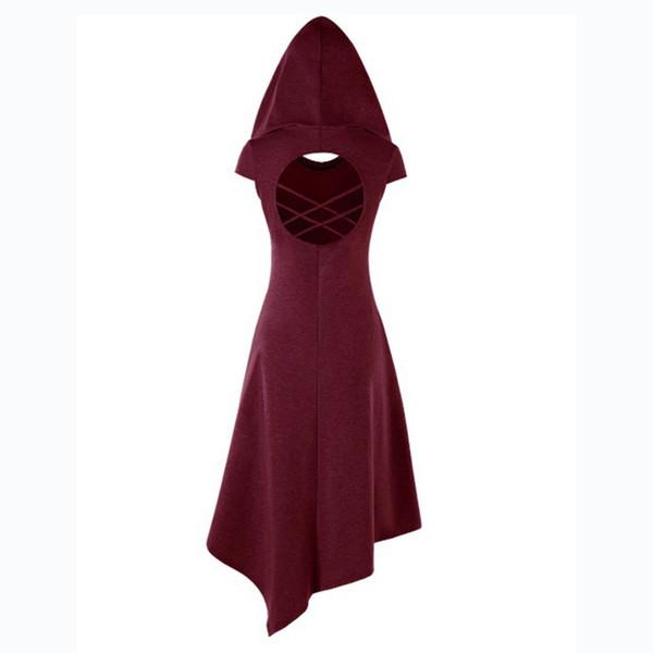 La Renaissance Médiévale Gothique Courtes Femmes Robes Rétro Retour Creux Vêtements Robes De Soirée Costumes Rétro Européenne Halloween