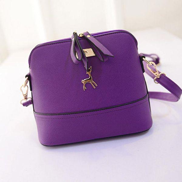 Transer nuevas mujeres bolsas de mensajero de la vendimia pequeña concha de cuero bolso moda casual bolsa de teléfono móvil llave multifunción bolsa A4