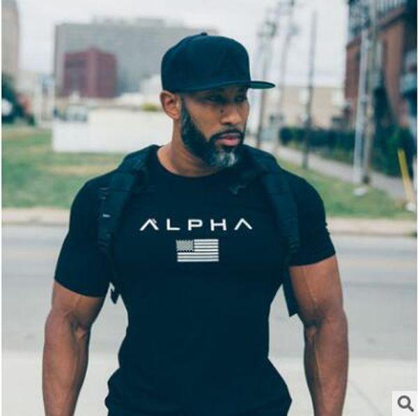 Gimnasios de alta calidad ropa de fitness camiseta de los hombres de moda de verano top manga corta camiseta de algodón culturismo chicos musculares