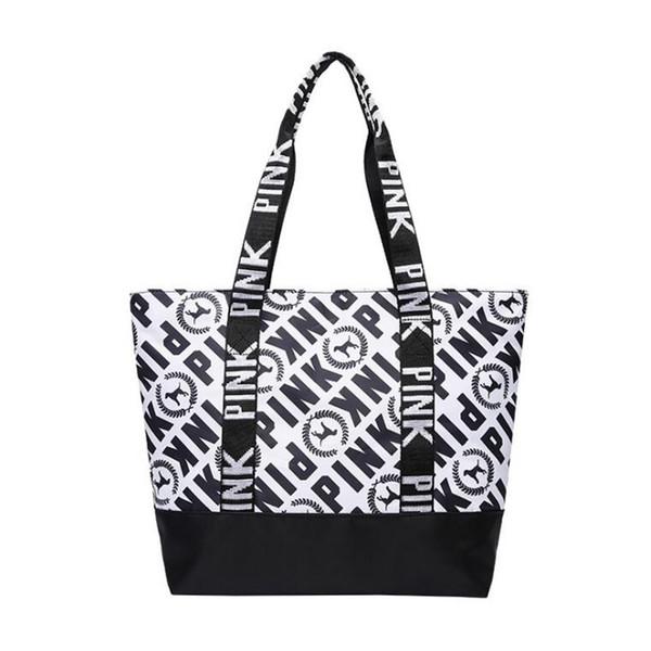 Pink new canvas bag, ladies handbag sports bag, yoga outdoor leisure single shoulder bag 2018 autumn new style