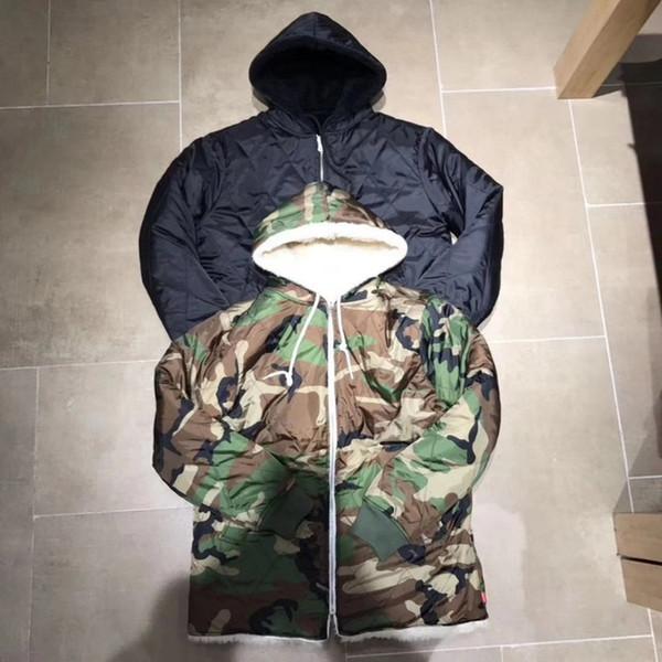 Uomini e donne reversibili double wear Giacca oversize con cappuccio sherpa Non troppe quantità