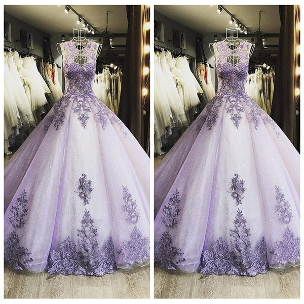 New Design 2018 O-Neck Sheer A-Line Prom Dresses Lace Appliques Custom Online Special Occasion Party Gowns Beaded Rhinestone Formal Long