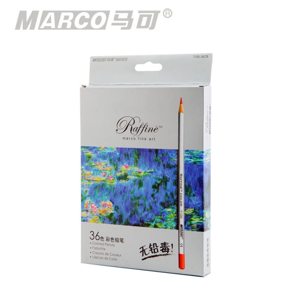 Marco Raffine Colored Pencils Color Pencils for Drawing Profesional 24 36 Colors Set Drawing Sketching Colour Pencil