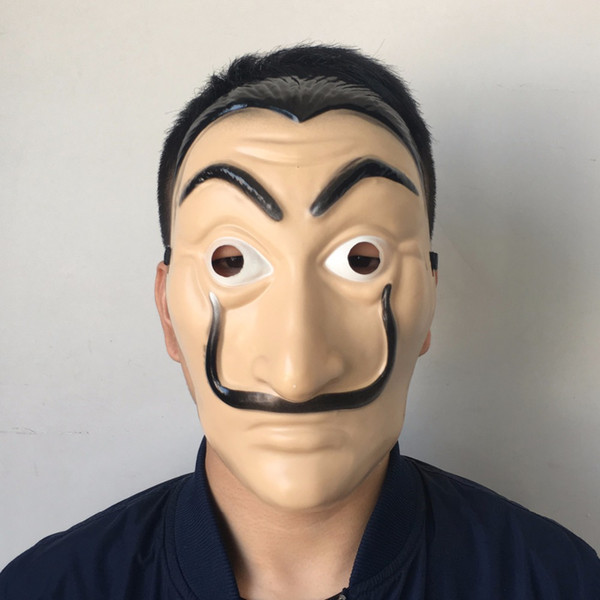Nouveau Cosplay Masque La Casa De Papel Horreur Masques De Visage Salvador Dali Bella Pont Halloween Décor Accessoires