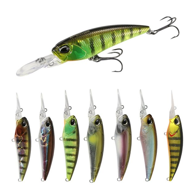 Topwater Fishing Lures 3D Eyes Floating Minnow Hard Artificial Baits Fishing Tackle 60mm 6g Crankbait Wholesale Price