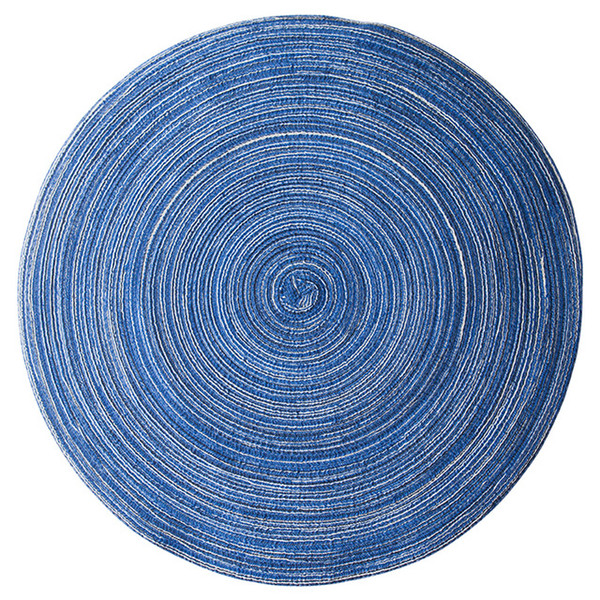 Luxury European Home Mat Design Table Ramie Insulation Pad Round Placemats Linen Table Mats Kitchen Accessories Decoration Home Pad Coaster