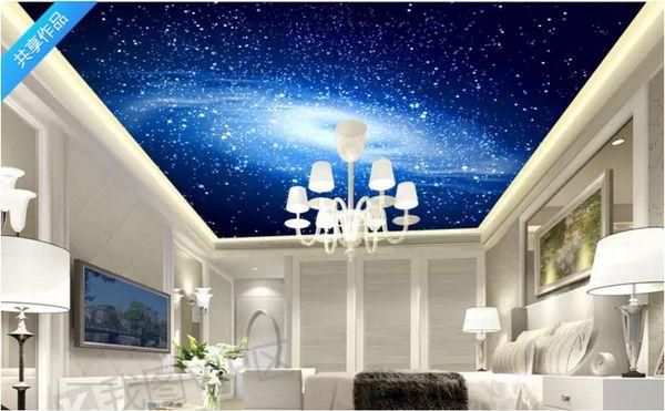 Custom 3d Photo Ceiling Wallpaper Beautiful Dream Galaxy Hotel Zenith Mural Wall Papers Home Interior Decor Wallpaper For Walls 3d High Resolution