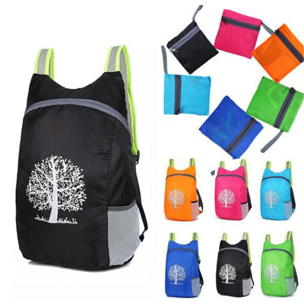 Nuovo di alta qualità Durevole Impermeabile Pieghevole Packable Leggero Outdoor Viaggi Escursionismo Zaino Daypack Portatile confortevole
