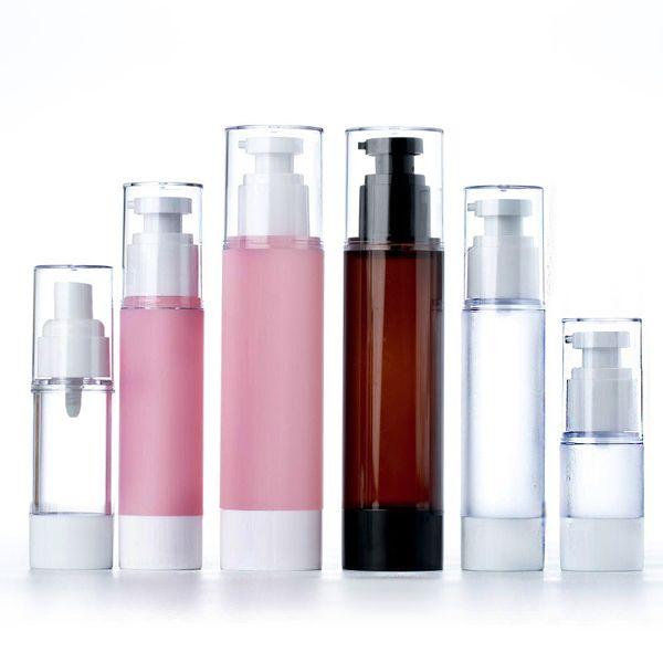 15ml 30ml Empty Airless Pump and Spray Bottles Crema de loción recargable Plastic Cosmetic Bottle Dispenser Contenedores de viaje
