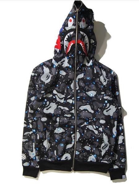 emmawang511 / 2018 Women Designer Hoodie Mens Streetwear Hoodie Coat Jogger Sportwear Pullover Fleece Sweatshirt shark Hip Hop Hoodie Men Clothing