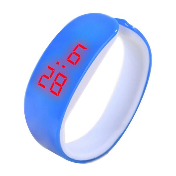 Chronograph LED Digital Display Bracelet Watch Dolphin Young Fashion Black Watch Bracelet Relogios Masculino