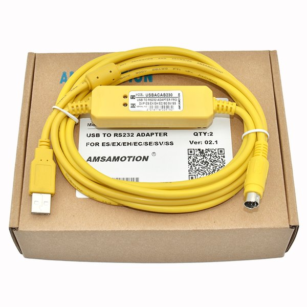 best selling USBACAB230 Delta PLC Programming Cable USB TO RS232 Adapter For USB-DVP ES EX EH EC SE SV SS Series Cable