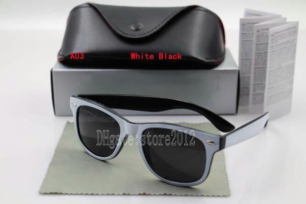 white black frame black lens