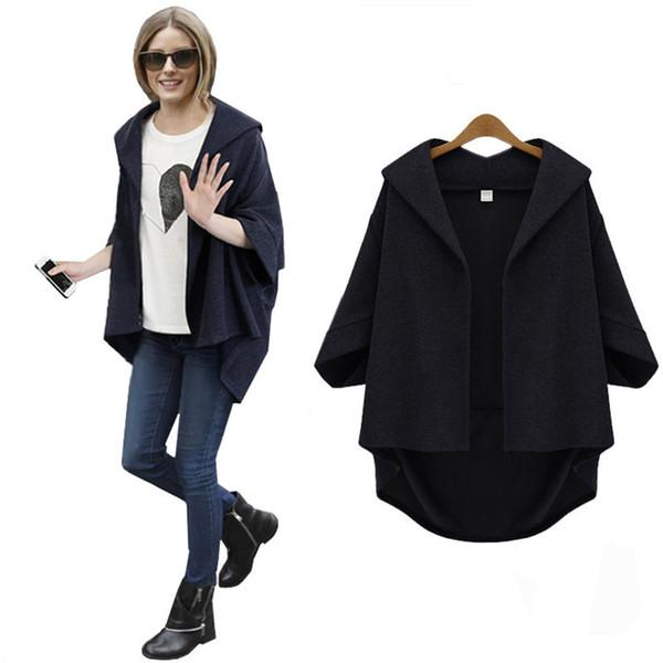 Female Spring Basic Jackets Casual Street Style Bat sleeved Bomber Shrug Women Jacket Coat Outerwear & Coats Plus Size 4XL 5XL