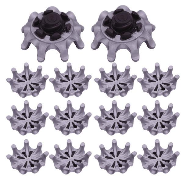 Scarpe da golf 14pz Spikes Pins 1/4 Turn Fast Twist Shoe Spikes Set di attrezzi da golf per la sostituzione
