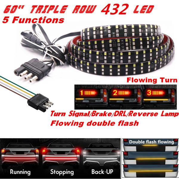 2019 60 Triple Row Led Tailgate Light Bar 5 Modes Reverse Brake Turn Signal Light From Haopengfei88 27 14 Dhgate Com