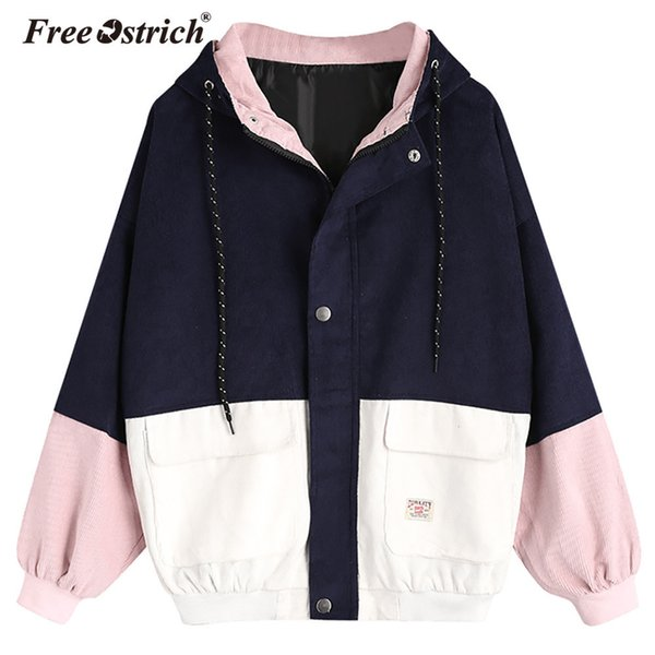 Free Ostrich Jacket Women 2018 Winter Women Clothing Bomber Coat Zipper Button Pockets Slim Solid Chaqueta Mujer Outerwear A2935