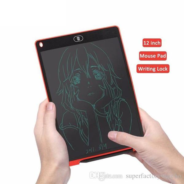 12 pouces LCD Écriture Tablettes Numériques Écriture Manuelle Tablettes Graphiques Portable Mémo Électronique Bloc-Notes Babillard Pour Le Dessin