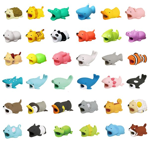 top popular Hot Cable BiteToy Cable Protector Animal Iphone Cable Bite Animal Doll 2*2*4cm Animal Iphone port Bite Data line protector toys 2019