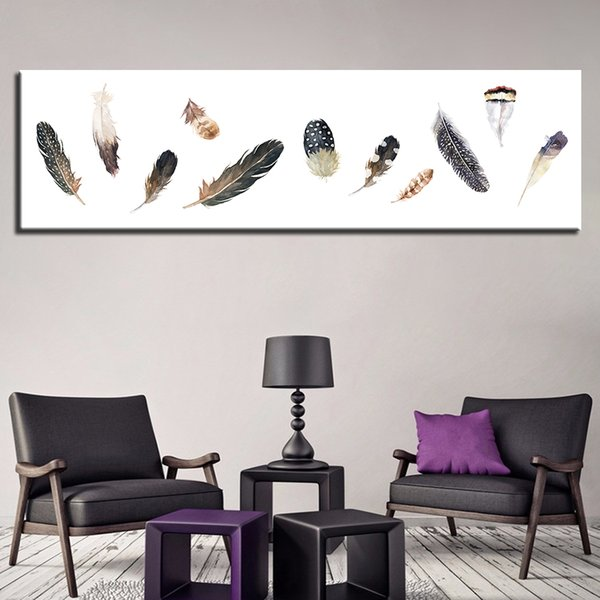 Nordic Feather Home Decoration HD Prints Canvas Paintings 1 Pieces Wall Artwork