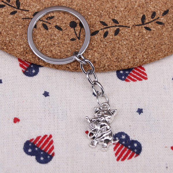 New fashion key chain cat yarn ball 25*15mm pendant DIY male jewelry car key chain Holder Jewelry Gift Souvenirs