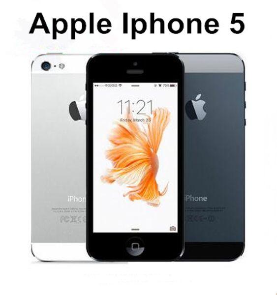 iPhone 5 16GB Mobile phone Unlocked Original Dual-core 1G RAM 4.0 inches 8MP Camera WIFI GPS refurbished CellPhone