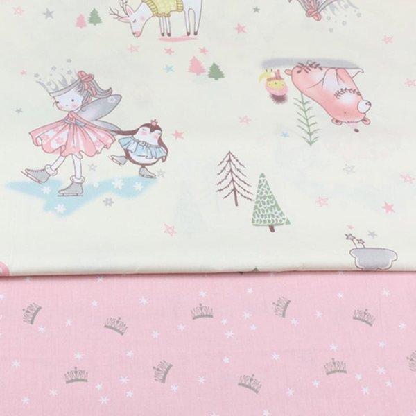 160 CM * 50 CM Pamuk Kumaş DIY Dikiş Zanaat Patchwork Kapitone Doku Tilda Kızlar Için Ev Tekstili Yastıklar Malzeme Prenses Taç