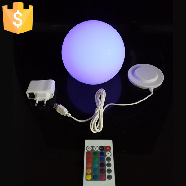 Waterproof 20cm Sample LED Ball Light Illuminated globe lights for Home Decoration with Rechargeable Lithium Battery 2pcs/Lot