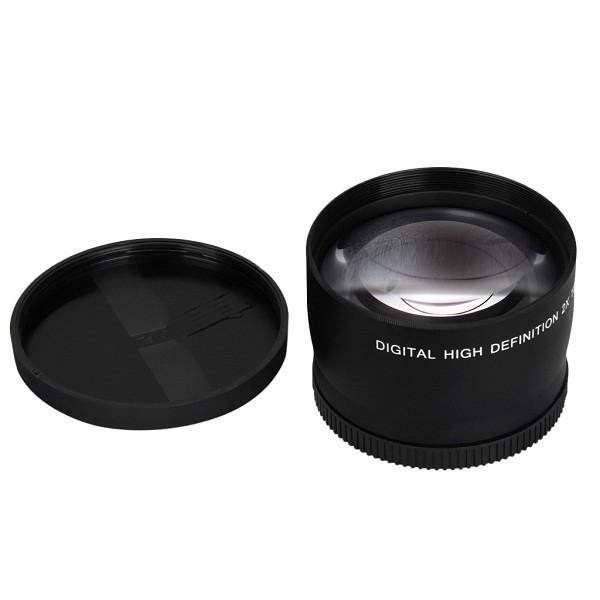 top popular 52MM 2.0X Telephoto Lens For Nikon D7100 D5200 D5100 D3100 D90 D60 and Canon Sony Camera Lenses With 52MM Filter Thread 2021