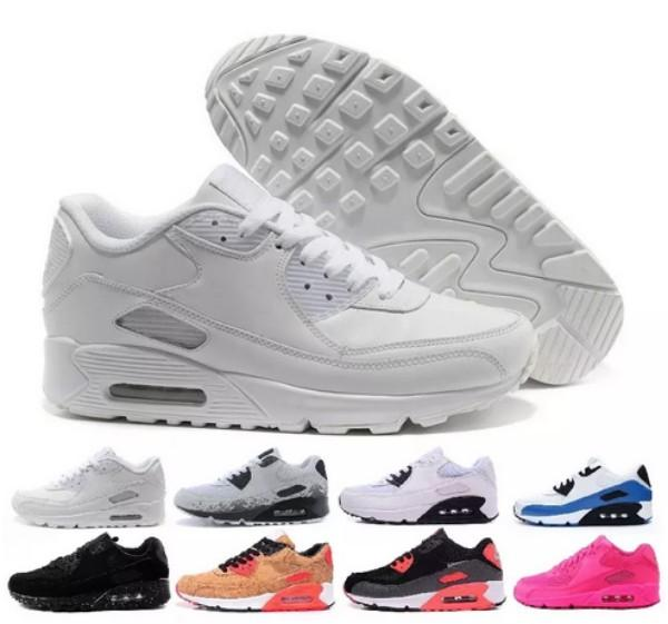 d2450039ccc 2018 Cheap Sneakers Classic 90 Men Running Shoes Wholesale Sport 90s Mens  Womens Trainers Black Sports Shoes Size 36-45