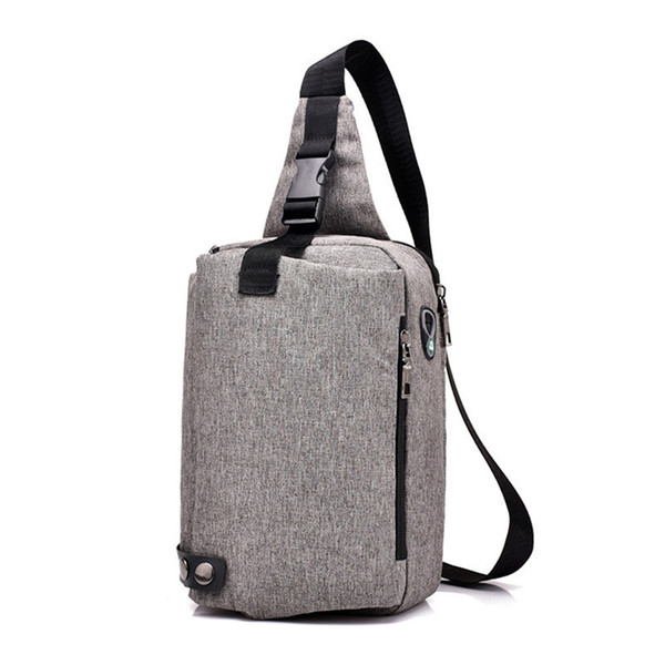 Fashion Listen Music Shoulder Bag Chest Pack Novelty Anti-theft Punk Rock Messenger Packs New Arrival Cool Street Crossbody Bags