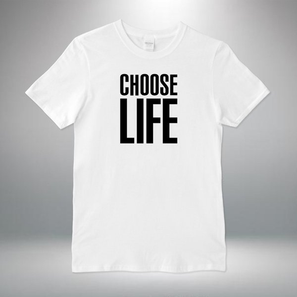 Choisir Life 80 S Rétro Robe Fantaisie Homme Unisexe T Shirt S-XXL