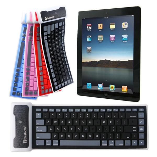 Universal faltbare wasserdichte Silikon-drahtlose Bluetooth-Tastatur kleines Licht 8 SL @ 88