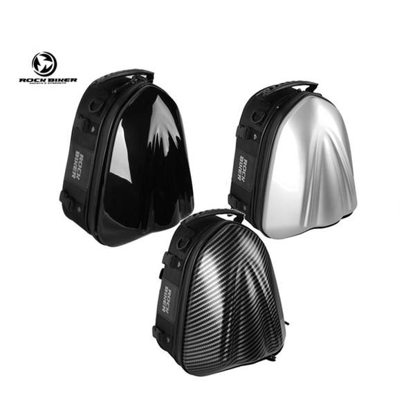 ROCK BIKER Motorcycle Helmet Bag Waterproof Hard Shell Motocross Backpack Top Case Moto Back Seat Bag Alforjas Para Moto Racing Riding