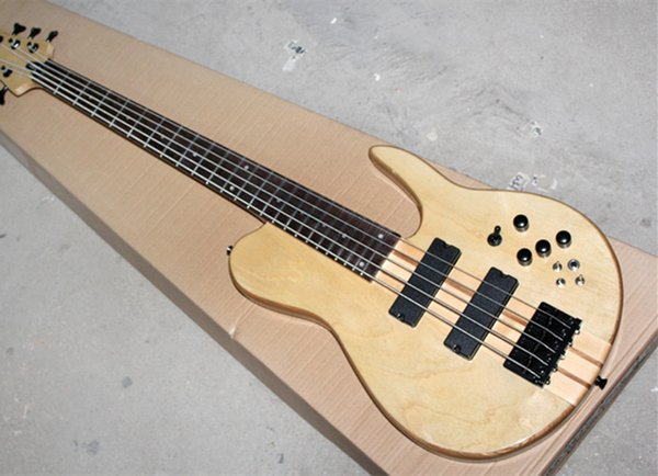 2018 5-string ASH Neck-Thru-Body Electric Bass Guitar with Rosewood Fingerboard,Black Hardwares,Good Quality