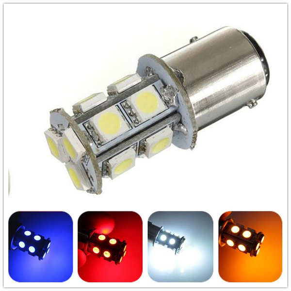 12v DC white bule red green yellow 1157 bay15d 13SMD 5050 dual contact LED car auto turn signals brake Parking lamp Light bulb