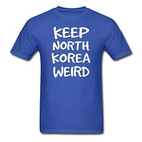 2017 nova chegada Ramble Brothers Manter Coréia Do Norte Weird T-Shirt dos homens dos homens 100% algodão O-pescoço T Camisa Casual tops curtos tee