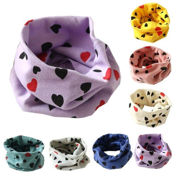 Autumn Winter Boys Girls Collar Baby Scarf Cotton O Ring Neck Scarves Cartoon child neck Scarves Kids O Ring Scarf Unisex knit