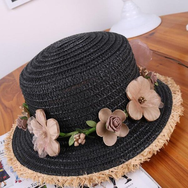 2018 New Fashion Summer Hats For Women Spring Travel Panama Wreath Sun Hats Chapeau Ladies Straw Hat Beach Accessories Adult