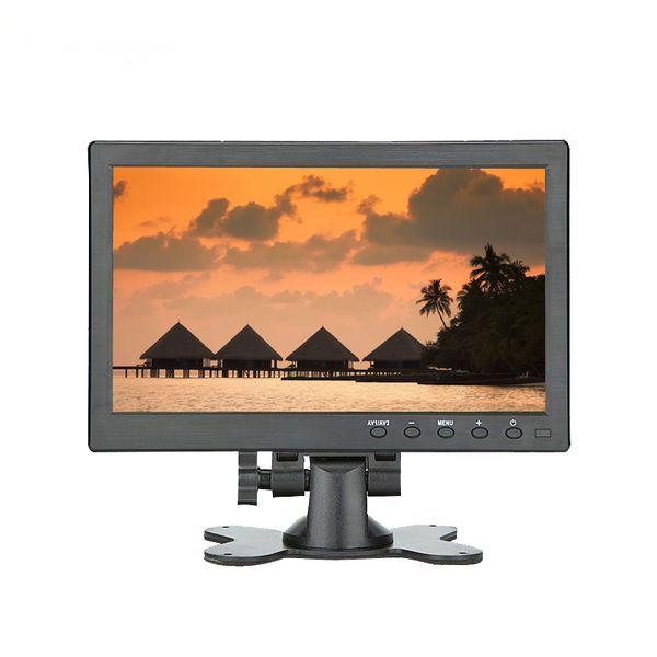 Moniteur LCD 10,1 pouces CCTV 1280 x 800 IPS avec HDMI VGA Port AV pour la caméra de vidéosurveillance Sauvegarde de voiture