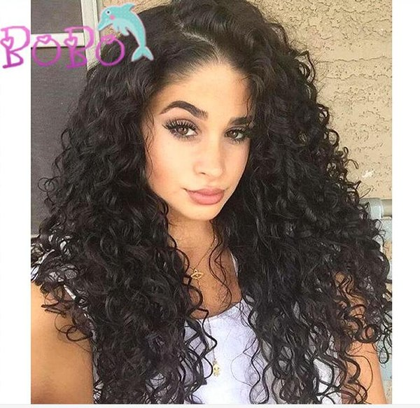 Brazilian Full Lace Human Hair Wigs For Black Women With Baby Hair Natural Water Wave Wigs Free Ship no shedding