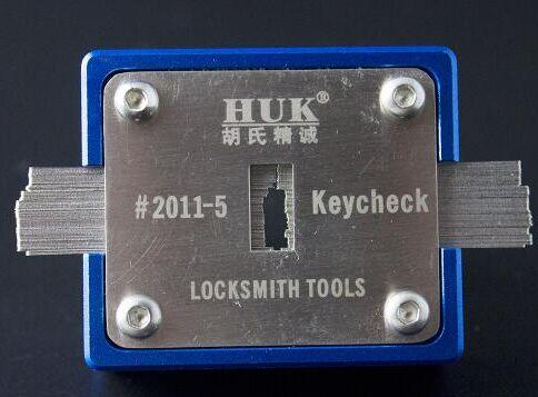 Locksmith HUK Key Checker Key slot thickness Measurement instrument tool equipment Lock Pick Set