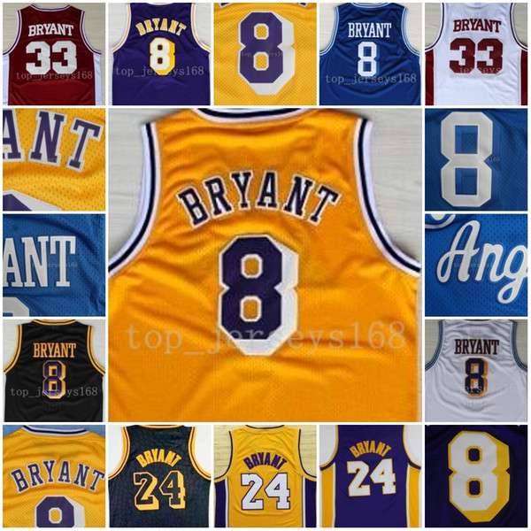 big sale a8cd3 da421 2018 Wholesale Men Basketball Jerseys 8 Kobe Bryant Jersey City Version 8  33 Bryant Black Mamba Jersey Swingman 100% Stitched Jerseys College From ...