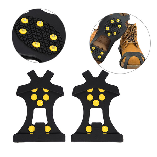 2018 New Arrivel Outdoor Unisex Snow Antislip Spikes Grips Grippers Crampon Cleats For Shoes Boot Overshoses