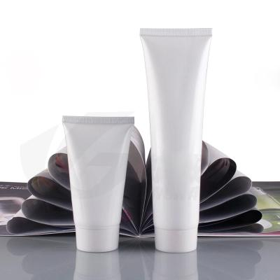 100g empty white plastic tube for cosmetics packaging,100ml plastic bottles for hand cream,3.5 oz unguent containers 100pc/lot