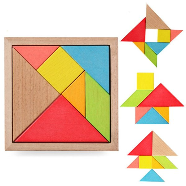 Children Early Education Puzzle Toys Creative Puzzle Tangram Collage Board Geometry Building Blocks Intelligence Game For Kids 0 8ym WW