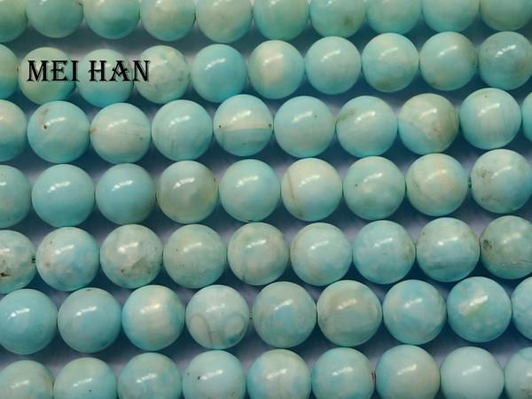 Бесплатная доставка (38 бусин / комплект / 55 г) натуральный 10-10.5 мм Larimar свободные шарики камень для изготовления ювелирных изделий дизайн