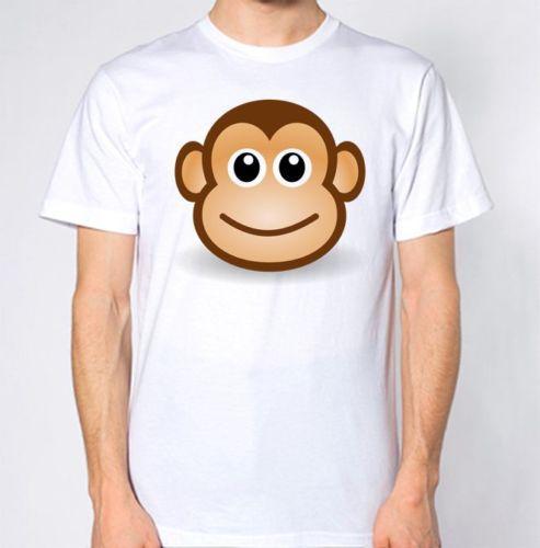 Maymun Karikatür Yüz T-Shirt Karikatür t shirt erkek Unisex Yeni Moda tshirt Gevşek Boyutu üst ajax 2018 komik t shirt% 100% Pamuk Tee